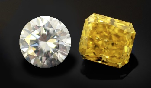 colored yellow diamonds
